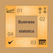 Biznes statystyki tło — Wektor stockowy