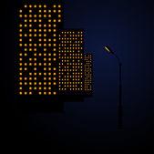 City lights in night — Stock Vector