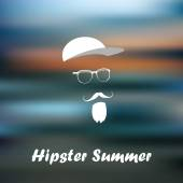 Mustache, beard, hat, sunglasses — Stock Vector