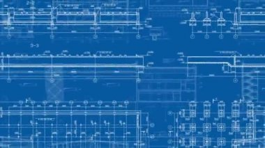 Construction Drawings Looped Background — Stock Video