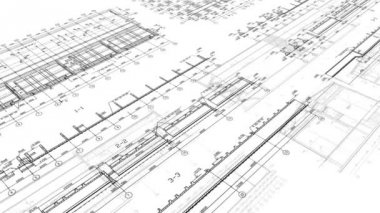 Construction Drawings Looped Background — 图库视频影像