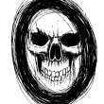 Skull in circle — Stock Vector #60331263