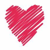 Красное сердце — Cтоковый вектор
