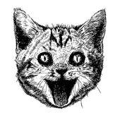 Head of smiling cat — Stock Vector