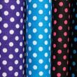 Rolls of colorful fabric — Stock Photo #78850742