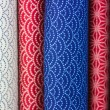 Rolls of colorful fabric — Stock Photo #78850840