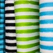 Rolls of colorful fabric — Stock Photo #78850854