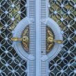 Detail of the big decorative main door of a historic building — Stock Photo #65194783