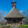 Authentic Romanian village wooden church  built with natural bio materials — Stock Photo #68247215