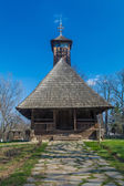 Authentic Romanian village wooden church  built with natural bio materials — Stock Photo