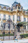 The historic building of George Enescu Museum entrance in Bucharest — Stock Photo