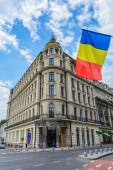 BUCHAREST, ROMANIA - JUNE 28: Hotel Capitol facade on June 28, 2015 in Bucharest, Romania. The 5 level building was raised up in 1901, and in the past time was sheltered a hotel and famous cafe — Stock Photo