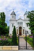Facade Of Christian Church Saint Nicolae Tabacu In Bucharest, Romania. — Stock Photo