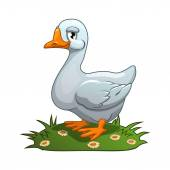 White goose — Stock Vector