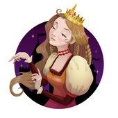 Young beautiful princess — Stock Vector