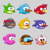 Funny cartoon birds — Stock Vector
