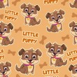 Pattern with puppies — Stock Vector #62273635