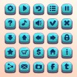 Blue stone buttons — Stock Vector #62275109