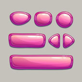 Botones de rosa dibujos animados — Vector de stock