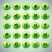 Green round buttons — Stock Vector