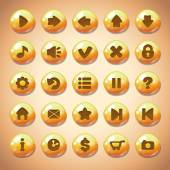 Yellow round buttons — Stockvektor