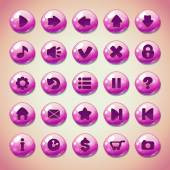 Pink round buttons — Stock Vector