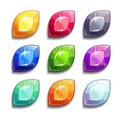 Gems and diamonds icons — Stock Vector