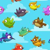 Cartoon flying birds — Stock Vector