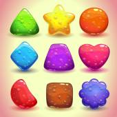 Jelly figures with bubbles — Stock Vector