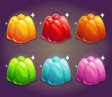 Shiny jelly set