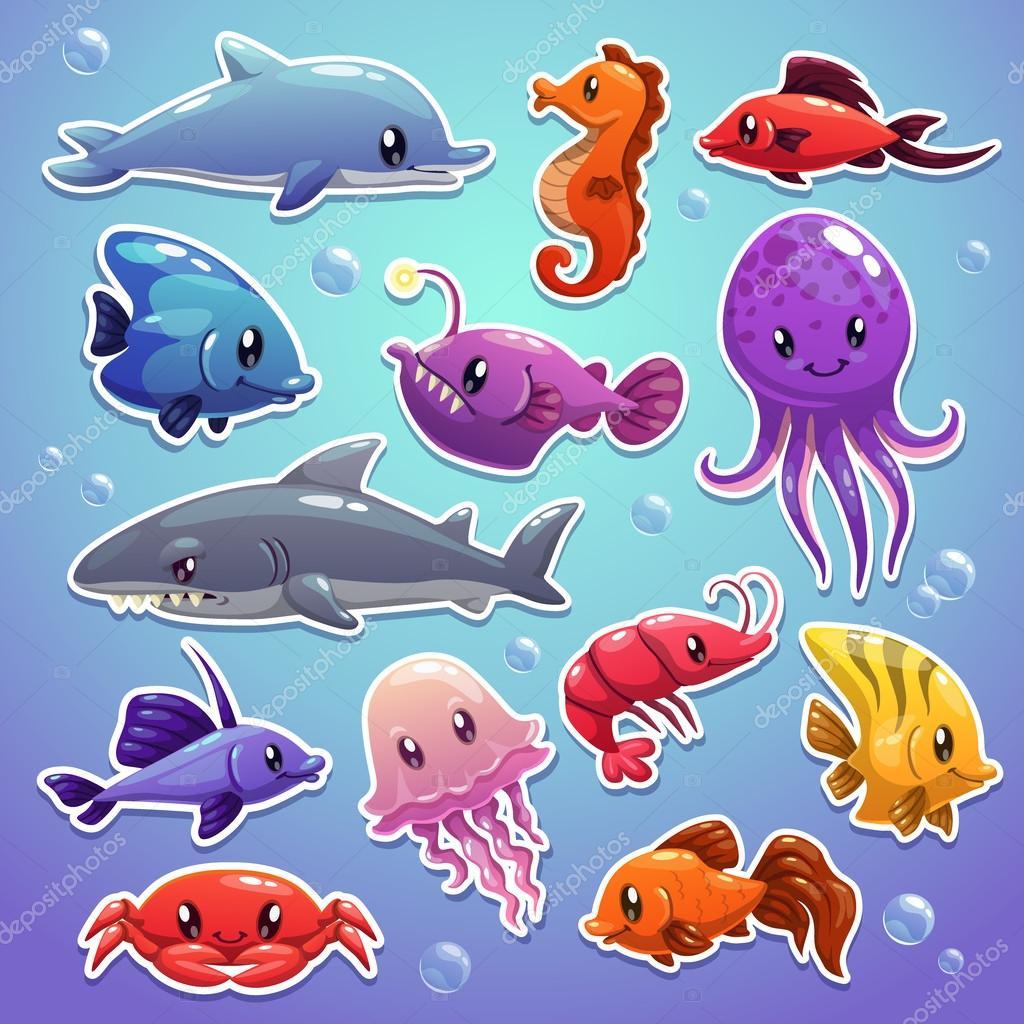海洋动物 — 图库矢量图片 #62272743