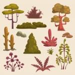 Cartoon landscape elements — Stock Vector #65098343