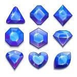 Cartoon blaue Juwelen — Stockvektor  #68788475