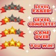 ������, ������: Game rating icons with stars