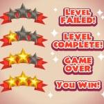 Постер, плакат: Game rating icons with stars