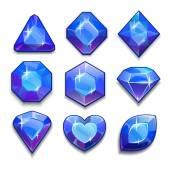 Cartoon blue jewels — Stock Vector