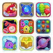 App-Shop Spiel-Ikonen — Stockvektor