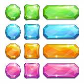Bottoni in cristallo colorato — Vettoriale Stock