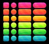 Bright spectrum buttons set — Stock Vector