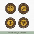 Set of labels for honey 1 — Stock Vector #63674277