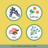 Icons of medicinal plants 2 — Stock Vector