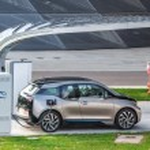 Electric vehicle charging (BMW i3) — Stock Photo #61285293