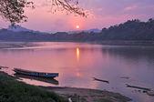 Sunrise at Mae Khong river — Stock Photo