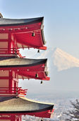 Chureito Pagoda and Fuji in Japan — Stock Photo