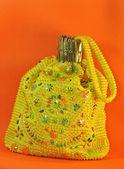 绣有珠子的复古手提包 — 图库照片