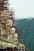 Statue of Buddha construction on mountain — Stock Photo