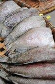 Dried Sepat Siam, Dried Snakeskin gourami (Trichogaster pectoral — Stock Photo