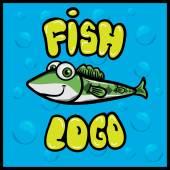 Cartoon fish logo — Stock Vector
