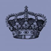 Old crown vintage illustration — Stockfoto