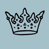 Old crown vintage illustration — Stok fotoğraf